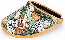 YXINY Sonnenhüte Damen im Freien leeren Spitzenmode-Frühlings-Sommer-Hut Damen Accessoires Hüte & Mützen (Farbe : Orange)