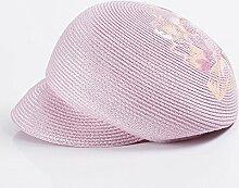 YXINY Sonnenhüte Sonnenschutz Frau Freizeit Cap Urlaub Strohhut Sun Hat Pink Damen Accessoires Hüte & Mützen