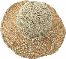 YXINY Sonnenhüte Strandmütze Frau Sommer Sonnenschutz Schatten Strohhut Zusammenklappbar Reisen Urlaub Damen Accessoires Hüte & Mützen (Farbe : Orange)