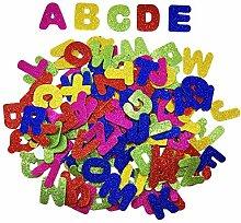 YXJD 150pcs Selbstklebende Buchstaben Glitzer