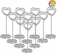 YXJD 24 Stück Herz Tischkartenhalter Memo