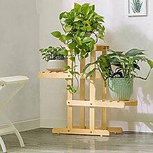 YXLAB Blumenständer- Holz Pflanze Blume