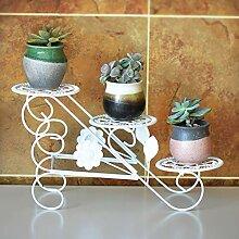 YXWa Blumentreppe Dreischichtiger Blumenständer