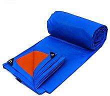 YXX- 15mx10m Plane Bodenplane Schuppen Tuch Regendicht Schwere Plane Große Verdicken Doppelseitige Wasserdichte Zelt Spleiß Markise Sonnenschutz-Blau, 155G/M² (Farbe : Orange, größe : 6*4m)