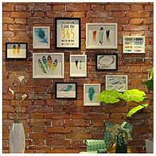 Yxx max *Fotorahmen Bilderrahmen Wand Set Flamingo