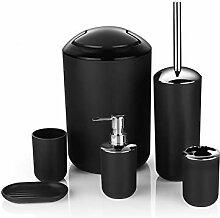 YYBFG 6-teiliges Badezimmer-Set, Kunststoff,