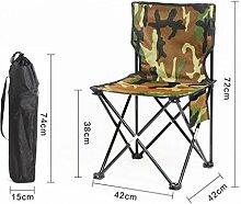 YYdy-Small wooden stool Outdoor Klappstühle Portable Strand Freizeit Stuhl Falten Fischen Hocker Rückenlehne Schreiben Stuhl Hocker Outdoor Stuhl, grün (größe : 42*42*72cm)