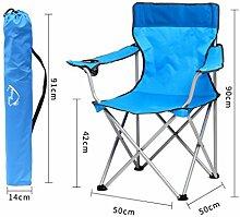 YYdy-Small wooden stool Outdoor Klappstühle Portable Strand Freizeit Stuhl Falten Fischen Hocker Rückenlehne Schreiben Stuhl Hocker Outdoor Stuhl, blau