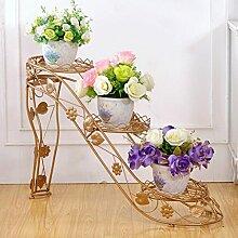 YYF Blumenregale Iron Flower Rack Mehrstöckige Blumenbeet Rahmen Innen-und Außenbereich Wohnzimmer Balkon High Heels Kreative Blume Regal Green Radix Orchidee ( Farbe : D )