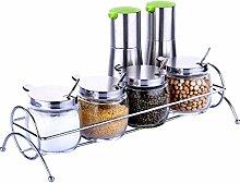 YYF Küche liefert Edelstahl Glas Cruet Set mit