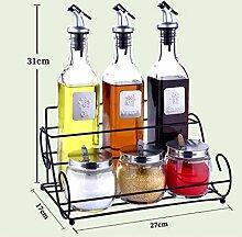 YYF Küche Zubehör Glas Gewürz Box Set Gewürz
