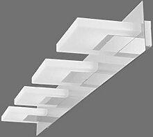 YYF Spiegelfrontlicht LED-moderne Edelstahl-Spiegel-Lampen-Schrank-Wand-Lampe ( farbe : Weiß-74cm )