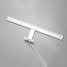 YYF Spiegelfrontlicht LED-Spiegel-Schrank-Leuchten Aluminium-Acryl ( farbe : Nature-10w50cm )