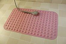 YYF Teppich Mehrfarbige Badematte Badteppiche Anti-Rutsch-Naturkautschuk-Badematte Rutschfeste Badewanne Duschmatte Waschbarer Badteppich Für Bodenbadezimmer, Blau / Rosa ( Farbe : Pink , größe : 47x48CM )