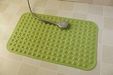 YYF Teppich Mehrfarbige Badematte Badteppiche Anti-Rutsch-Naturkautschuk-Badematte Rutschfeste Badewanne Duschmatte Waschbarer Badteppich Für Bodenbadezimmer, Grün / Gelb ( Farbe : Grün , größe : 58x88CM )