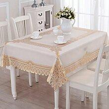 YYF Tischdecke Plastik Tischdecke Pvc wasserdicht Anti-Öl Tischdecke Couchtisch Matte ( farbe : Gold )