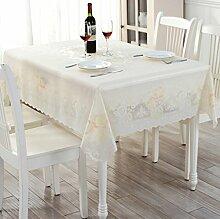 YYF Tischdecke Runde Tischdecken quadratische Tischtücher Tischdecken PVC wasserdicht und ölbeständige Plastik runde Tischdecken lange Tischmatten ( Farbe : Lange )