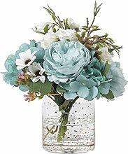 YYF Umweltschutz Gefälschte Blumen-Blau