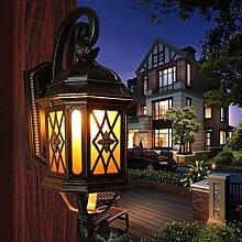 YYF Wandlampe Continental wasserdichte Outdoor-Wandleuchte Wandleuchte Wandleuchte Villa Innen Balkon Flur Wandleuchte Ganglichter