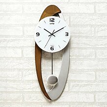 YYF Wanduhr Wohnzimmer mit moderner europäischer Art-Wand-Taktgeber-Kunstpendel-Taktgeber-einfacher stilvoller stummer Taktgeber ( Farbe : B )