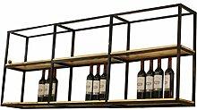 YYF-Wine Racks Weinregal, Schmiedeeisen, Holz, zum
