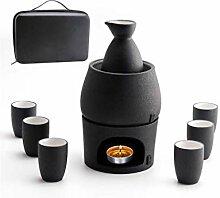 YYH Japanische Keramik Sake Set und Tassen mit den