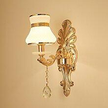 yyhaoge Lampe aus Kristallglas Jade Wall Lamp wall