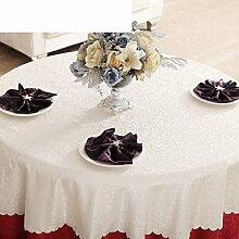YYHSO Das Hotel Continental Tischdecke,Tabelle Tuch Stoff Tischdecke,Der Stil Von Einfachen Modernen Esstisch Tuch,Rot-wei?-grauen Tuch-D Durchmesser240cm(94inch)