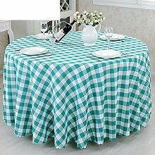 YYHSO Konferenz Zimmer Tisch Tuch Tisch Tuch Tischdecke,Runder Tisch Tuch Stoff Einfachen Modernen Stil Restaurant Tischdecken-D Durchmesser200cm(79inch)
