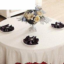 YYHSO Tabelle Tuch Tischdecke Stoff Tischdecke,Der Stil Einfach Moderner Tisch Tuch Tischdecke,Wei?-graue Tuch-C 160x160cm(63x63inch)