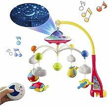 YYINHUI Baby Kinderbett Mobile Musik mit