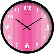 YYL Home Dekoration Ideen-Uhr,Wohnzimmer Ruhig Wanduhr-C 12Zoll