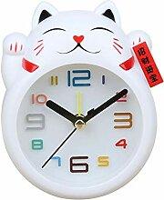 yywl wecker Chinese Lucky Cat Clock Feng Shui