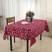 YYXDP Tischdecke Bestickte Esstischdecke Polyester