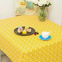 YYXDP Tischdecke Einfache Baumwollleinen