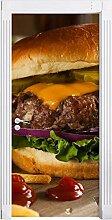 """yyyaa 3D""""Nettes Burgerstillleben""""Türaufkleber"""