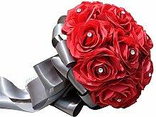 YyZCL Rosa Braut Brautstrauß Künstliche Mutiple