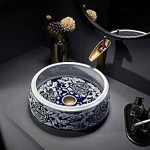 YYZD® waschbecken Antikes Keramikspülbecken