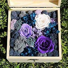 Yyzhx Eternal Flower Geschenk-Box aus Holz,