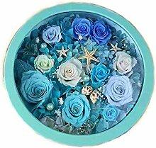 Yyzhx Runde Box Blumen-Geschenk, unsterbliche