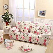 Yzai Schutzüberzug für Sessel oder 2- oder 3-Sitzer-Sofa, Schonbezug aus Elastischem Stoff, Heimdekoration für Möbel, Schonbezug, Textil, rosa blume, 57-73in