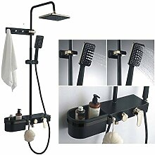 YZBDZ Duschsystem Luxus schwarz Regen Dusche