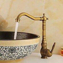 YZDD® Bad Waschbecken Wasserhahn Antik Bronze
