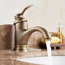 YZDD® Becken Wasserhähne Antik Messing