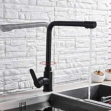YZDD® Mattschwarzer Wasserhahn für gereinigtes