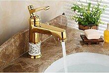 YZDD® Sgolden Bad Waschbecken Wasserhahn Mixer