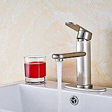 YZDD® Wasserhahn aus gebürstetem Nickel