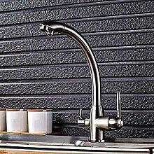 YZDD® Wasserhahn Design Zwei Ausguss Zwei Griff
