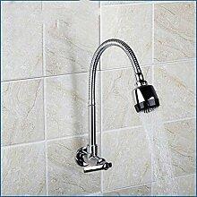 YZDD® Wasserhahn einzeln kalt rundum drehen mit