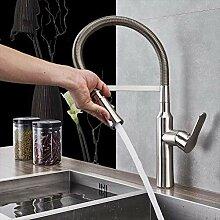 YZDD® Wasserhahn gebürstetes Nickel Pull Down